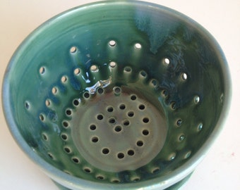 Forest Green  Berry Bowl Colander - MADE TO ORDER