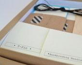 Blue & Taupe Bookbinding Kit, DIY Notebook Making Kit