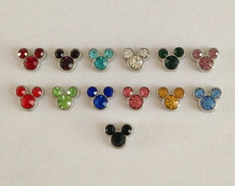 Mickey Mouse ears birthstone floating charm for memory locket
