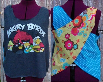 Size L Angry Birds Upcycled Tank Top DIY