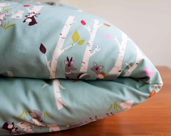 Design your Own Custom Reversible Certified-Organic Crib Sized Duvet Cover