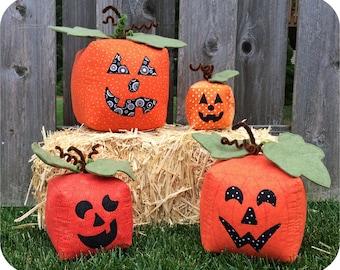 3D Pumpkins & Spider Machine Embroidery Design Files Instant Download