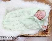 KNITTING PATTERN For Baby Papoose, Cuddle Sac, Cocoon & Hat in 3 Sizes PDF 133 Digital Download