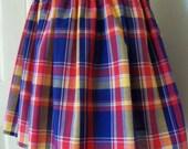 "Adorable 18"" PLAID Mini Skirt Womens PLUS 3X 4X"