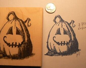 Pumpkin rubber stamp WM P5
