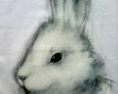 T shirt Coniglio - dipinta a mano - vegan