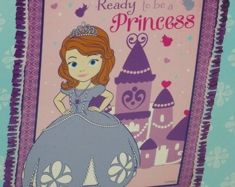 Disney Princess Sofia the First Fleece Throw Blanket Hand Tied