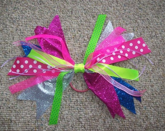 Hair,Accessory,Pony Tail Holder,Girls,Teens,Women,Gift,Pinks,Silver,Sparkly,Multi Color,Party