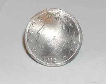 Coin jewelry~V nickel tie tac/lapel pin/golf marker