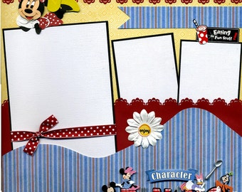 Character Dining  - Premade Disney Scrapbook Page