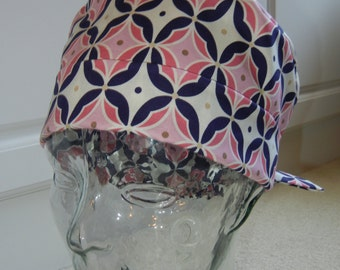 Tie Back Surgical Scrub Hat with Expressions