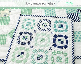 SALE 20% off Quilt Patterns, Mini Quilt, Thimble Blossoms Puddle Jumping Mini Quilt Pattern by Camille Roskelley for Thimble Blossoms