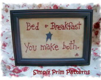 E-pattern -Bed and Breakfast - Primitive Stitchery epattern