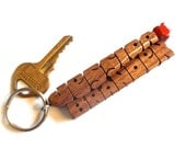 Wave Keychain in Walnut W...