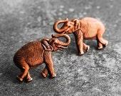 African Elephant Earrings, Elephant Earrings, Copper Earrings, Post Earrings, Elephant Trails African Copper Post Earrings