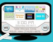 Wii Home Screen Inspired Printable Invitation