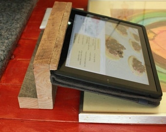 Handcrafted Barnwood Ipad Holder