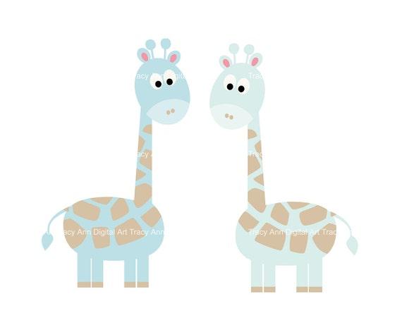 Baby Giraffe Clipart Blue Baby Blue Giraffe Clip...