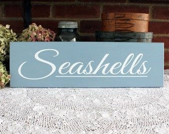 Seashells Beach Wood Sign - Handcrafted - Beach Cottage - Wall Decor - Nautical - Seaside -Coastal Decor - Wall Art