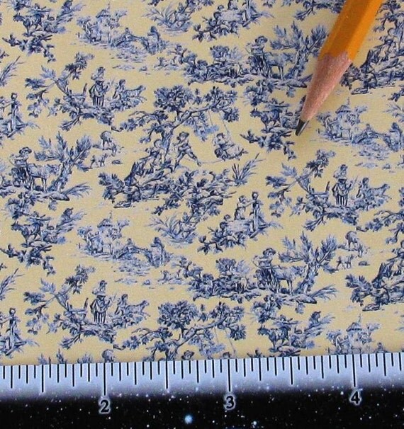 Dollhouse Miniature Victorian WALLPAPER Blue On By SydneyStyle