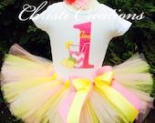 Baby Girl Birthday Tutu - Pink Lemonade Tutu - First Birthday Outfit - Party Dress
