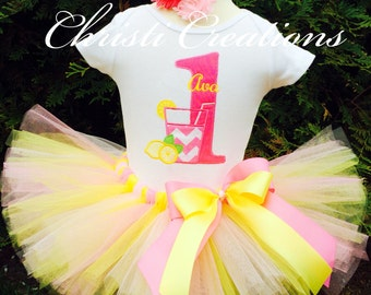 Pink Lemonade 1st Birthday, Baby Girl First Birthday Outfit, 1st Birthday Girl Outfit, Lemonade Photo Prop, Birthday Tutu Outfit