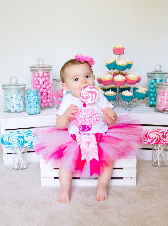 Baby Girl First Birthday Outfit Pink Tutu Cake Smash