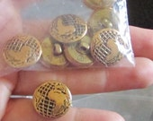 the world  buttons set of 8
