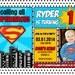 Superman Superhero Birthday Invitation 1st, 2nd, 3rd, 4th, 5th, 6th, 7th, 8th, 9th 10 5x7 - Print Your Own