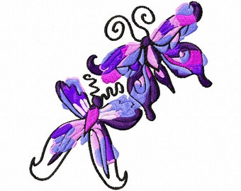 Butterfly Duo Machine Embroidery Designs..2798