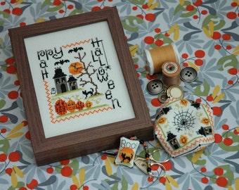 Halloween Sampler Cross Stitch Pattern Instant Download