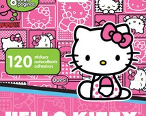 Hello Kitty Stickers Mini Stickerland Pads (SALE Bundle Discount 4 Packs • 480 Stickers) Hello Kitty Favors • Hello Kitty Birthday (ST5194)