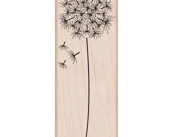 Dandelion Flower Rubber Stamp • Woodblock Craft Stamp (G4917)