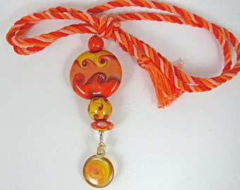 Sun Worshipper Stacked Lampwork Bead Necklace