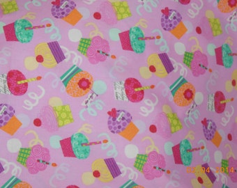 Happy Birthday Cupcake  Pillowcase