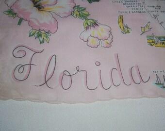 Vintage Florida Hanky - Handkerchief Hankie