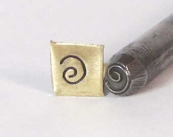 Round Spiral coil design stamp 5mm for symbol swirl stamping on metal