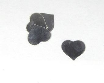 1 x 1 inch Sterling heart 22 gauge  the perfect pendant size