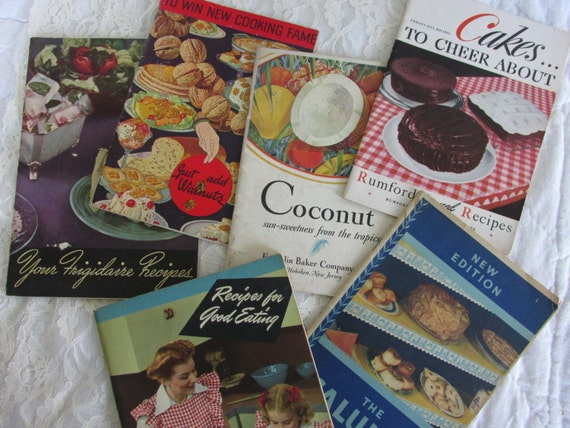 Vintage Cookbook Assortment, Antique Recipes, Vintage Cookbook Lot, Instant Collection Antique Cook Books, Cookbook Collector, Ephemera, CB4