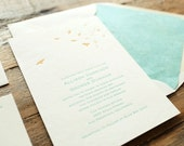 wedding letterpress invitation coastal