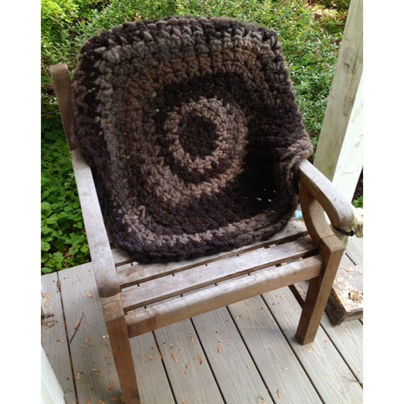 Pure, Natural Alpaca Round Rug Or Meditation Mat