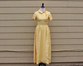 Emma Domb Ruffle Dress in Canary