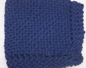 Knitted Dish Cloth - Torrent Blue