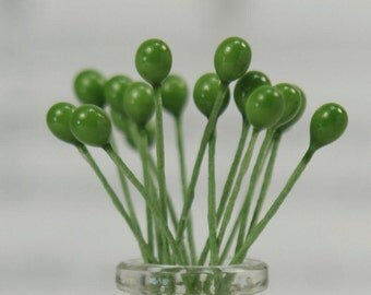 Green Berry Foral Deco (Double Headed) 72 pieces floral craft project - 6-709-0411