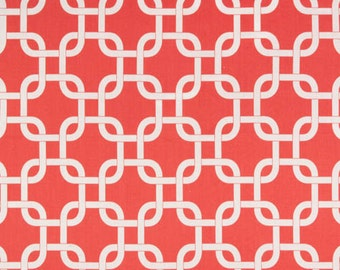CORAL GOTCHA Premier Prints Fabric by the Yard. Cotton Home Decor Fabric. Ready to Ship. Sewing Fabric. 2 yards Destash. SewGracious.