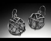 Cage Earrings in Sterling Silver