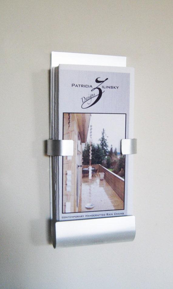wall mount metal brochure holder. Black Bedroom Furniture Sets. Home Design Ideas