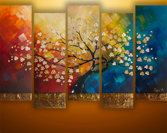 Abstract Painting, Tree Painting, Landscape Painting, Large Painting, Wall Art, Wall Decor, Gabriela , Floral Painting, Made To Order