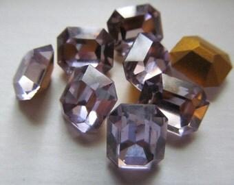 Vintage Glass Rhinestones Swarovski (2) Stones
