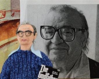 The Godfather Mario Puzo Italian Author Unique Gift Art Doll Miniature